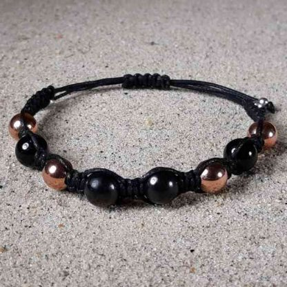 Shungite, Copper & Black Tourmaline Healing Energy Bracelet