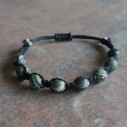 Silver Eye Serpentine Healing Energy Bracelet