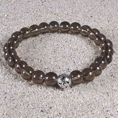 Smoky Quartz Healing Energy Stretch Bracelet