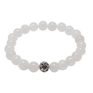Snow Quartz Healing Energy Bracelet (stretch)