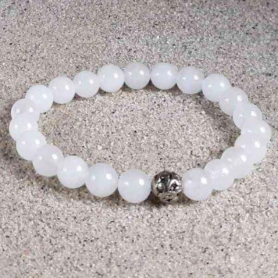 Snow Quartz Healing Energy Stretch Bracelet