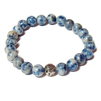 Denim Sodalite Healing Energy Stretch Bracelet