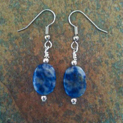 Sodalite Oval Earrings