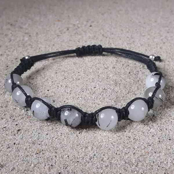 Tourmalinated Quartz Healing Energy Bracelet