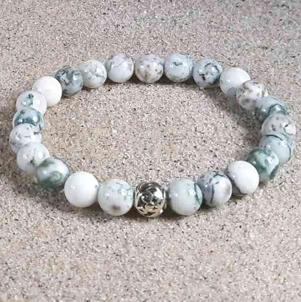 Tree Agate Healing Energy Stretch Bracelet