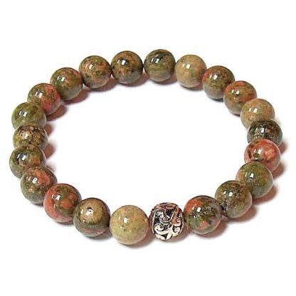 Unakite Healing Energy Stretch Bracelet