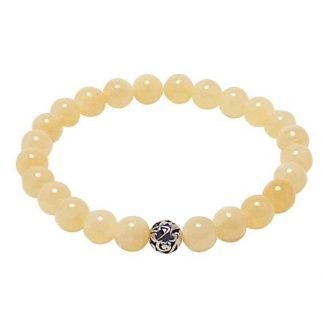 Yellow Calcite Healing Energy Bracelet (stretch)