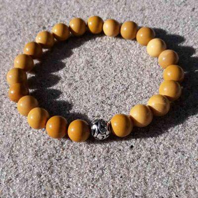 Yellow Mookaite Jasper Healing Energy Stretch Bracelet