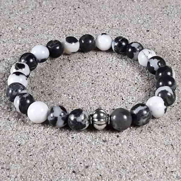 Zebra Jasper Healing Energy Stretch Bracelet