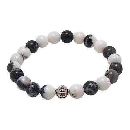 Zebra Stone Jasper Healing Energy Bracelet (stretch)
